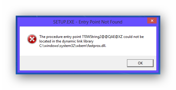 Error transparent windows 8. Trying to installing entry