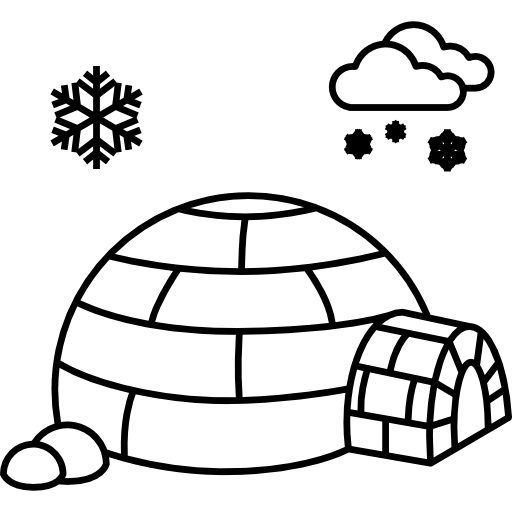 Eskimo drawing clipart black and white. Collection of free igloo