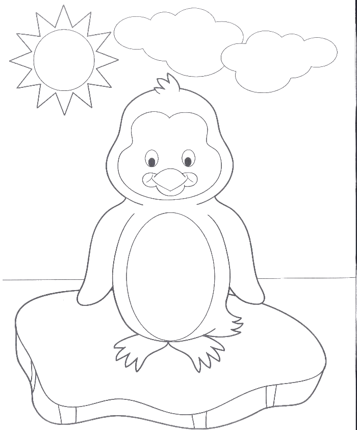 Eskimo drawing coloring page. A very cute baby