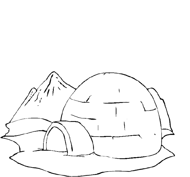 Eskimo drawing igloo house. Collection of free download