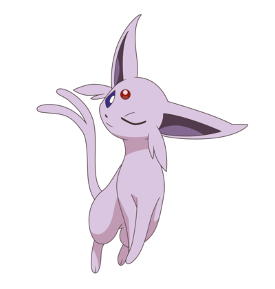 Transparent espeon. Image anime style by