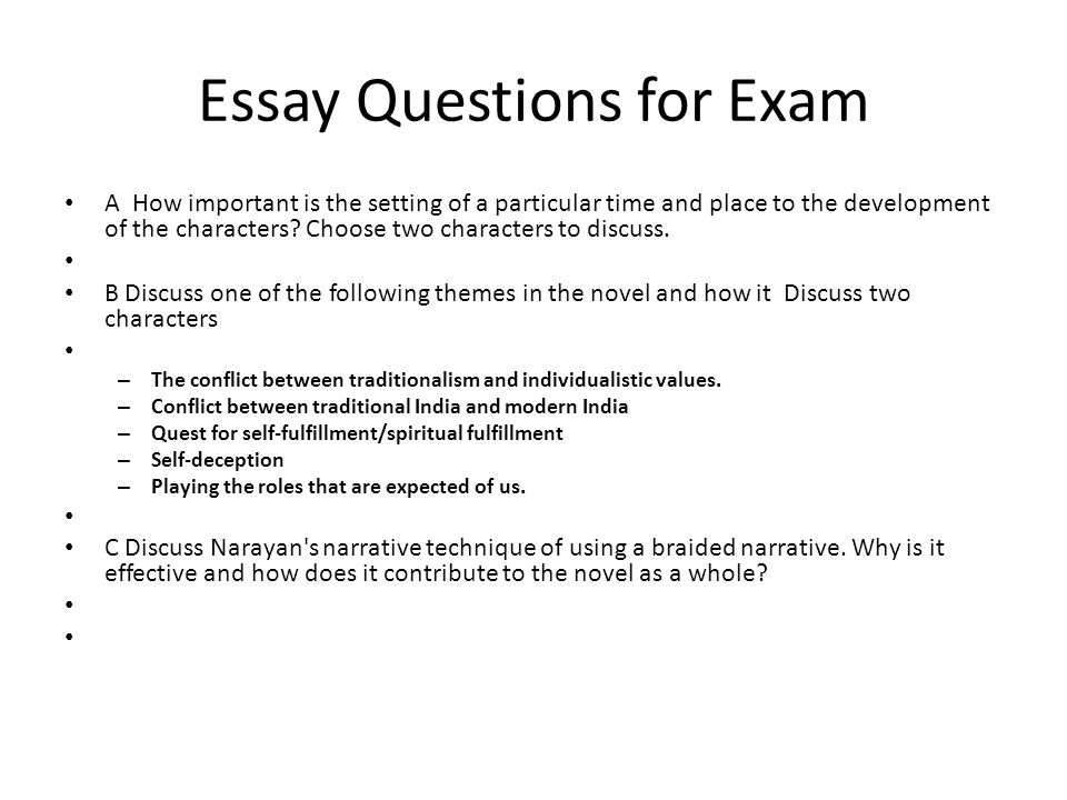 Essay clipart hard test. For exam questions ppt