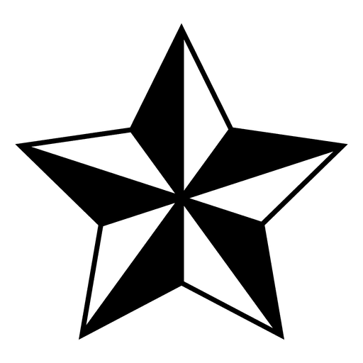 Estrellas 3d png. Polygonal star d transparent