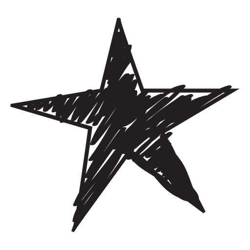 Star png vector. Hand drawn icon transparent