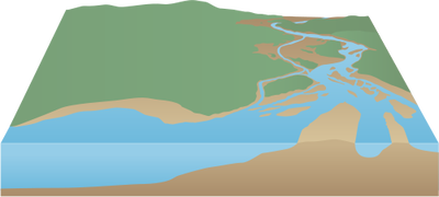 drawing rivers river mouth