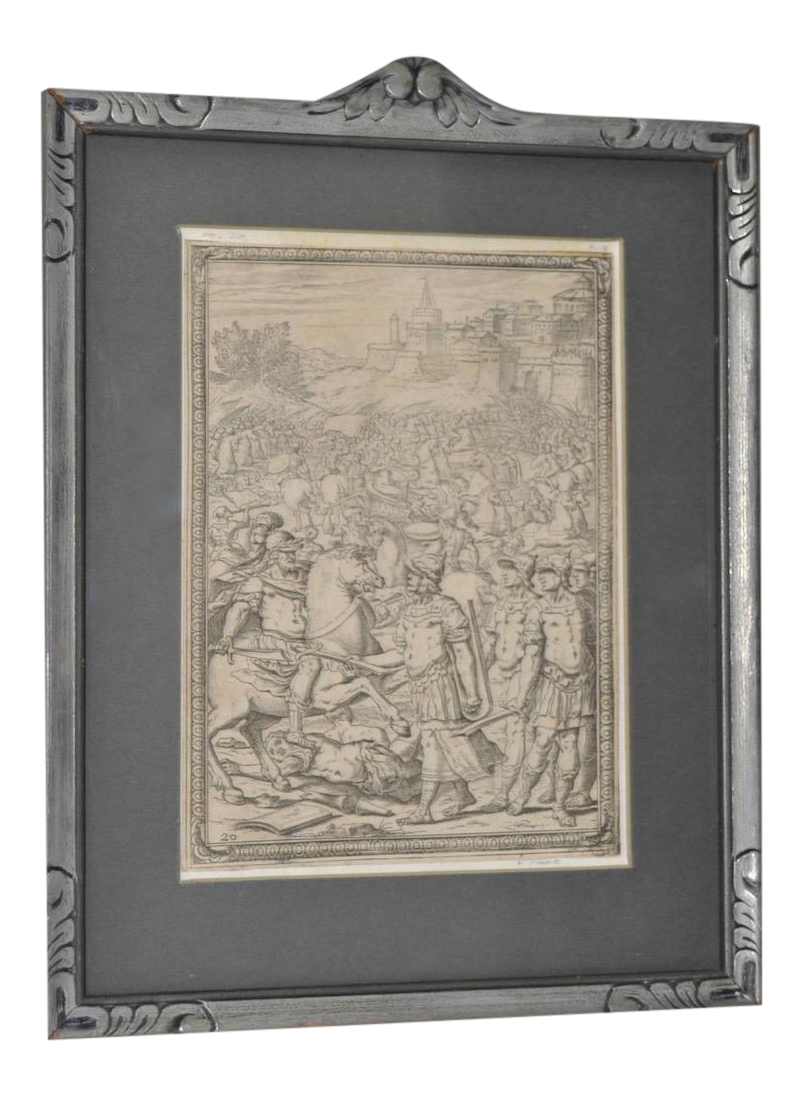 Etching drawing 18th century. Th c giovanni