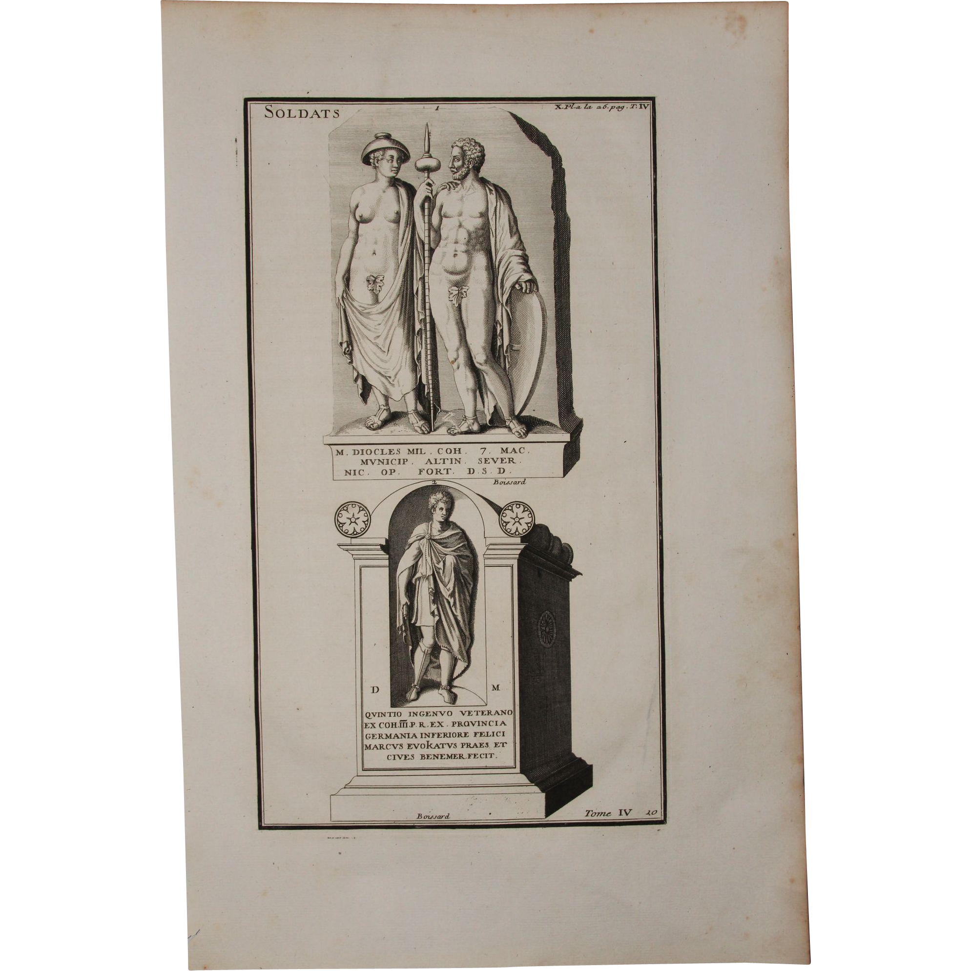 Etching drawing 18th century. Th copper engraving