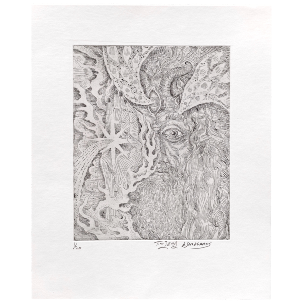 Etching drawing. Collaboration ii