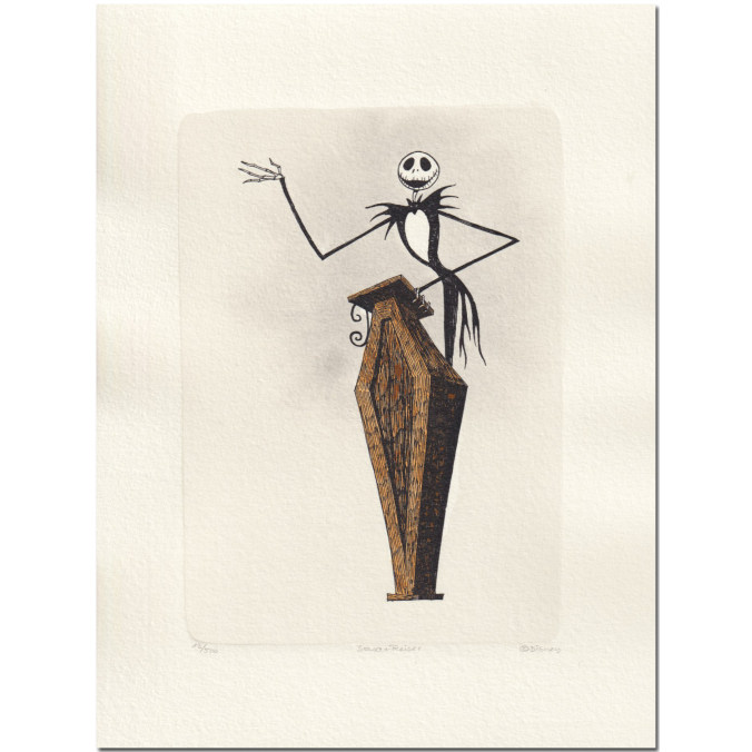 Unique drawing nightmare before christmas. The jack skellington limited