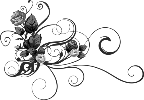 Black download computer icons. Etching drawing rose clipart royalty free library