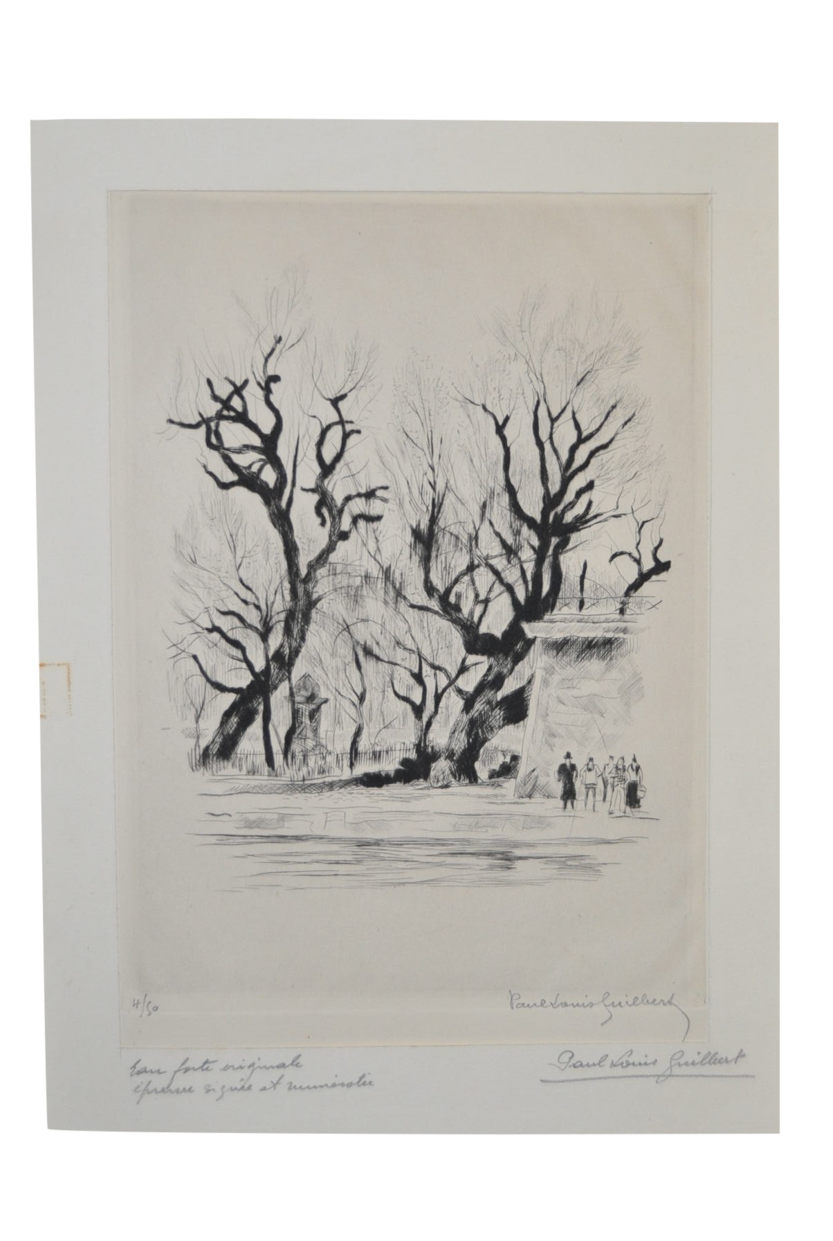 Etching drawing. Rare by paul louis