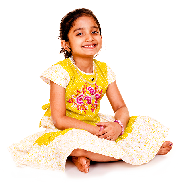 Ethnic child transparent png. India girl group photography