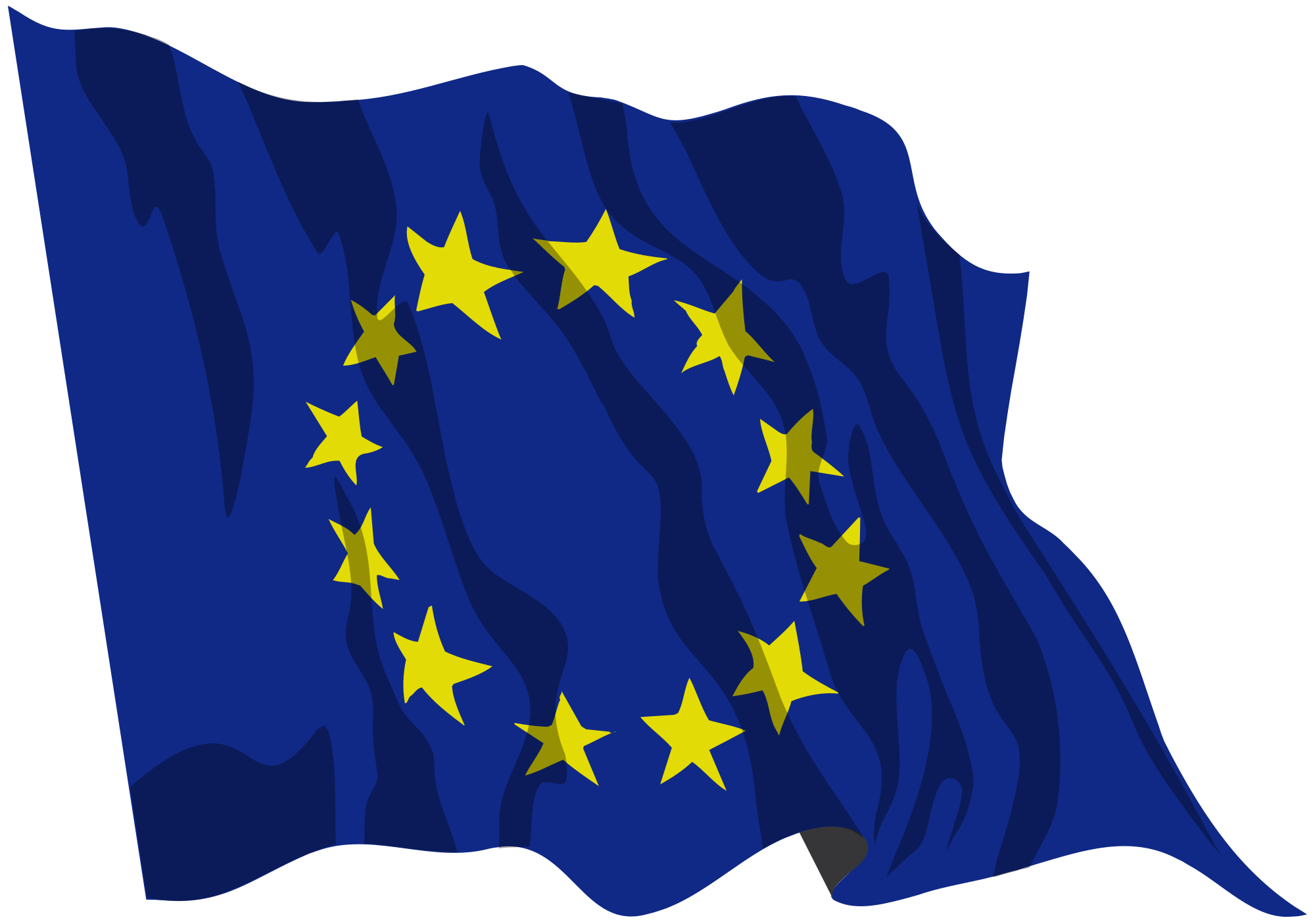 Svg flags wavy. File flag of europe