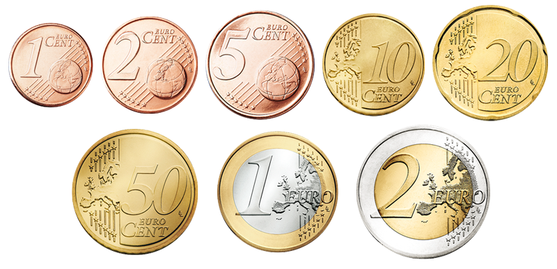 Euro coins png. Object wanted