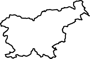 Europe clipart blank. Map of slovenia in