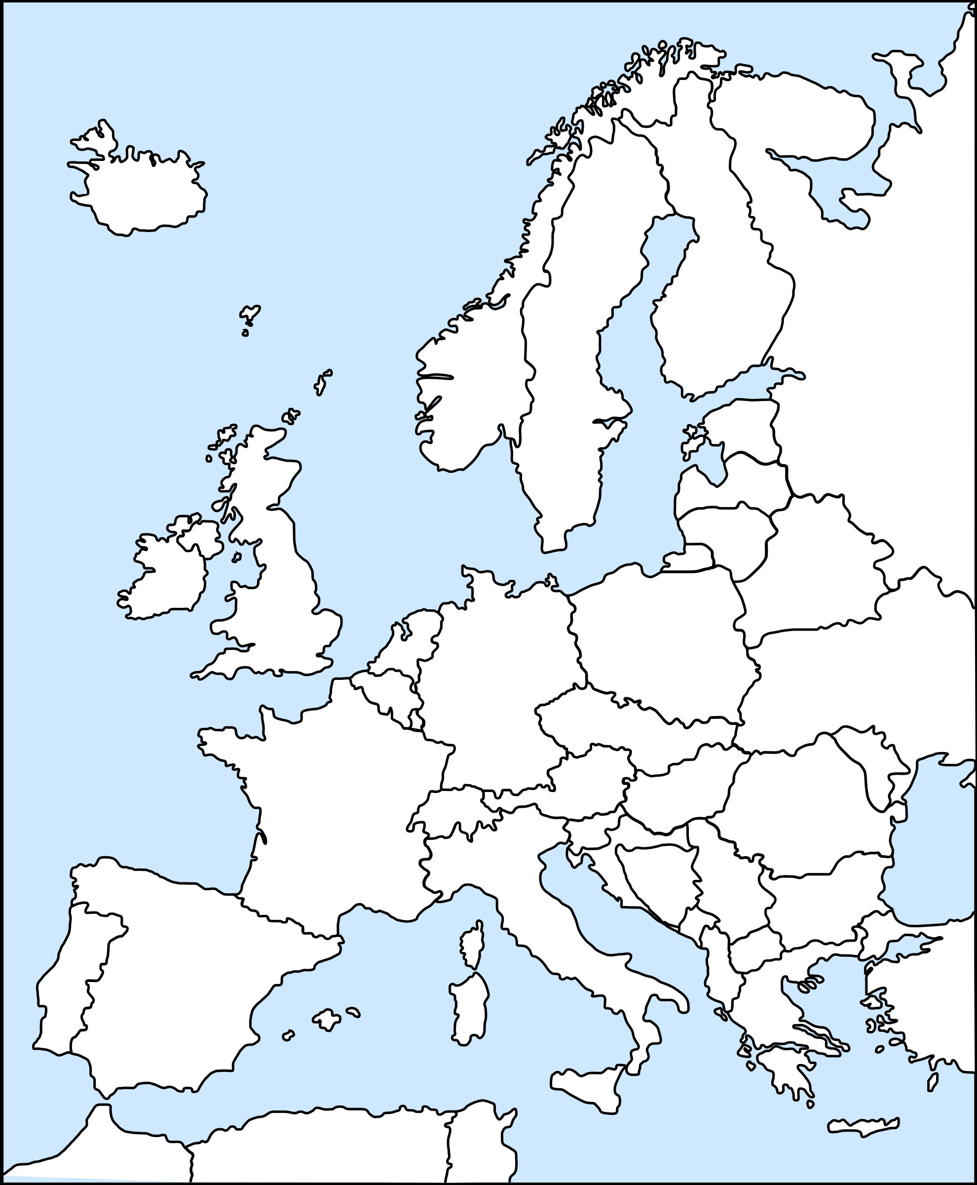 Europe clipart blank. World map of inspirationa