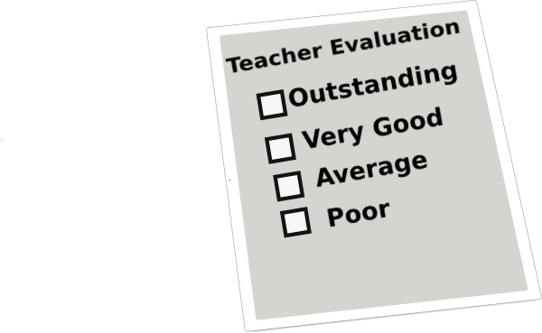 Evaluation clipart survey. Teacher
