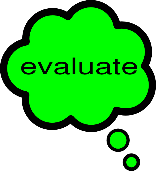 Evaluation clipart. Evaluate clip art at