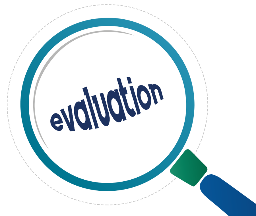 Evaluation clipart. Group and determining impact