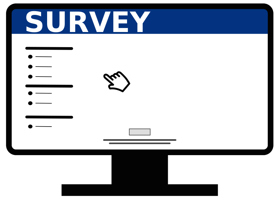 Evaluation clipart survey. Voyage course
