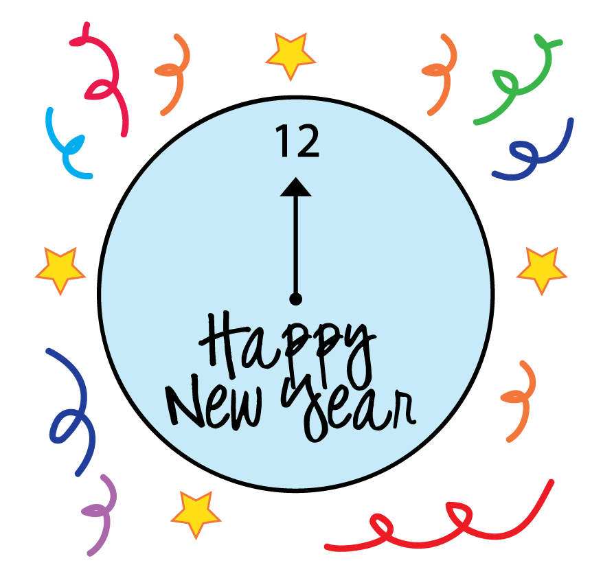 Eve clipart clock. New year clip art