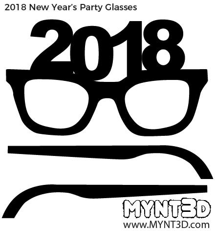Eve clipart project. New years glasses cartoon