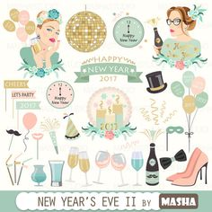 Eve clipart project. New year s with