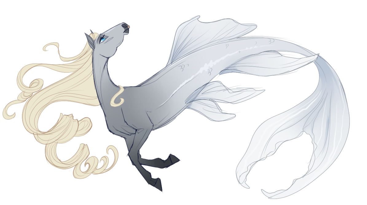 Eve drawing wing. Sa water form by