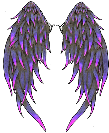 Even angels fall tattoo png. Angle wings angel tattoos