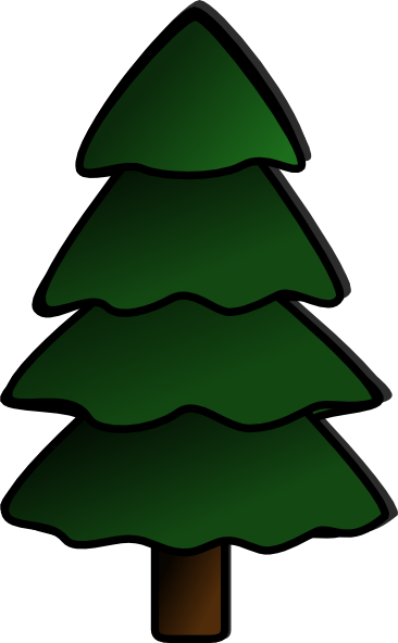 Evergreen clipart blue spruce. Tree silhouette at getdrawings