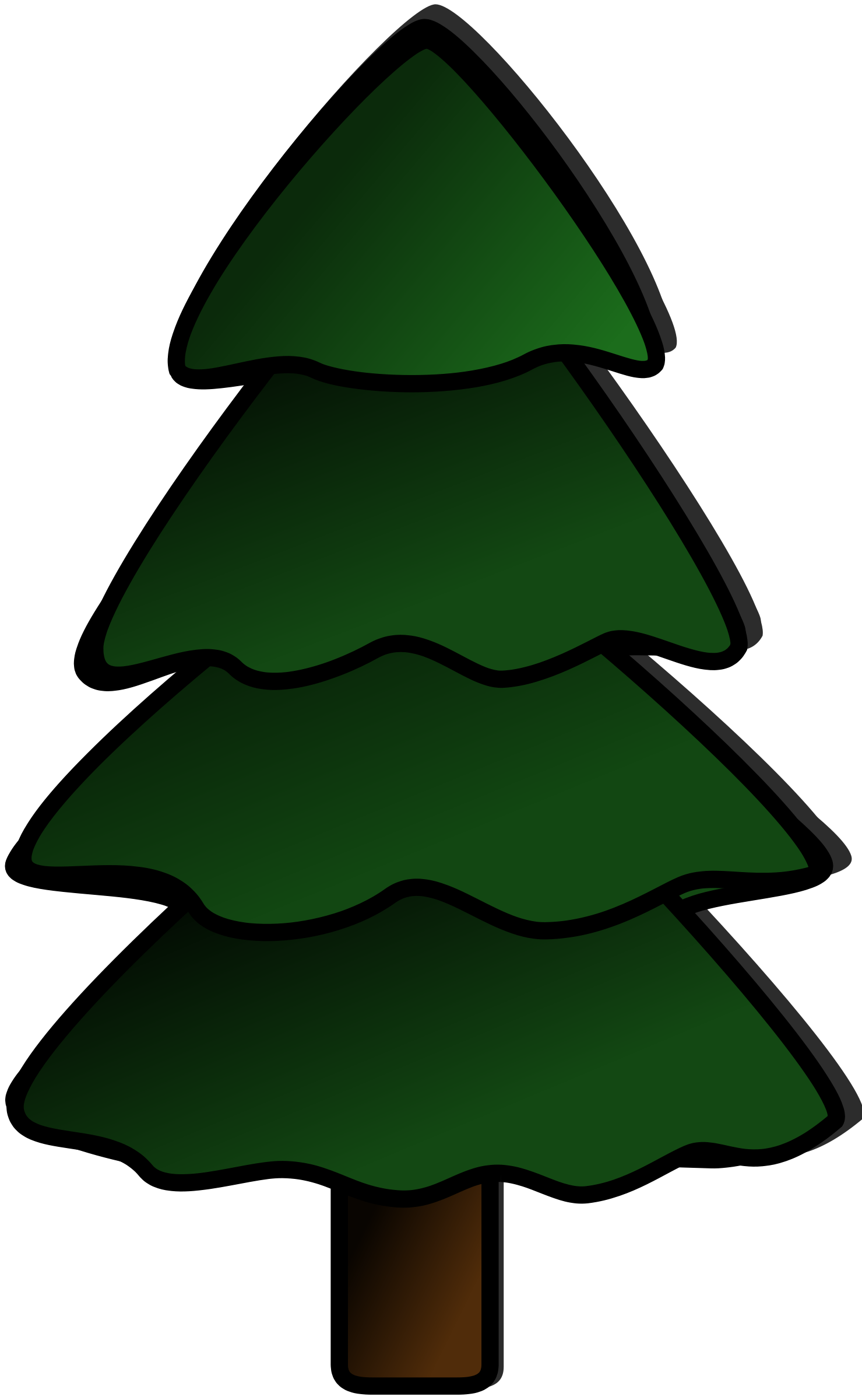 Evergreen clipart forrest tree. Trees silhouette at getdrawings