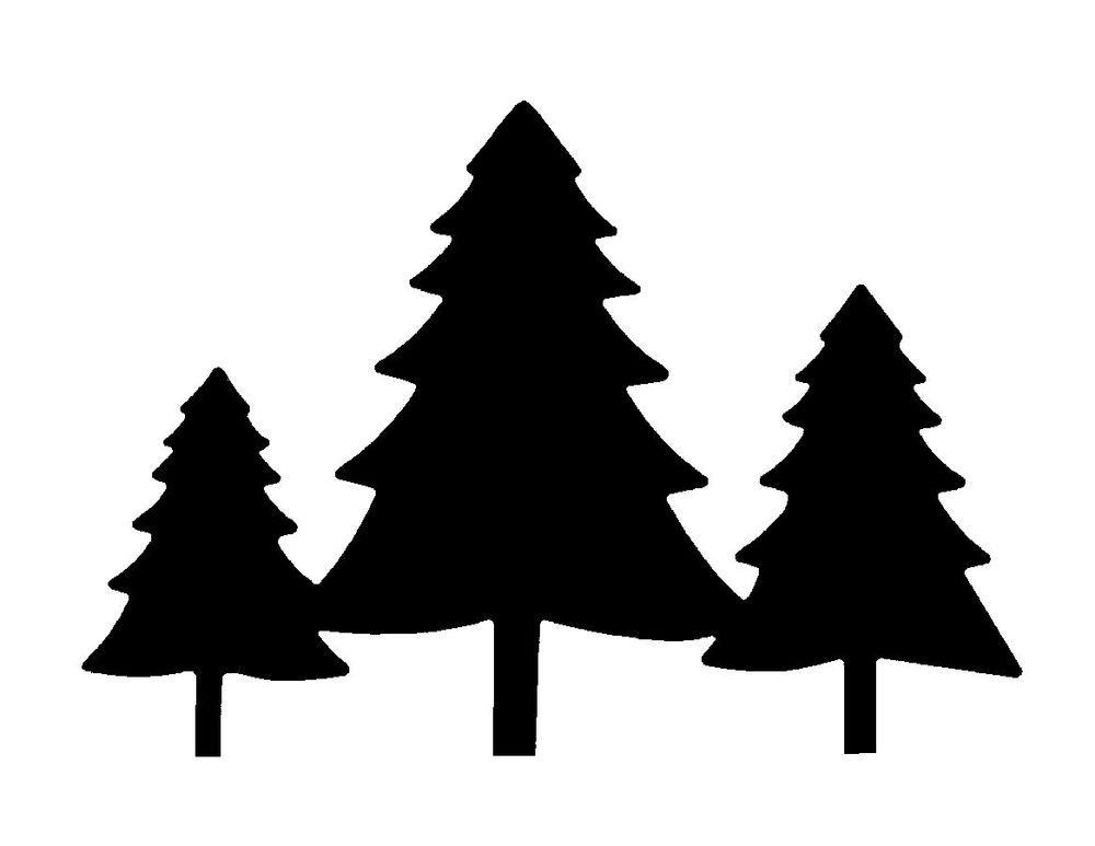 Evergreen clipart forrest tree. Forest silhouette at getdrawings