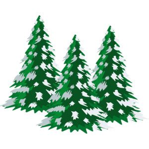 Evergreen clipart snow capped. Christmas tree covered in