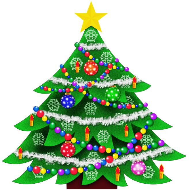 Evergreen clipart snow capped. Christmas tree ornaments at