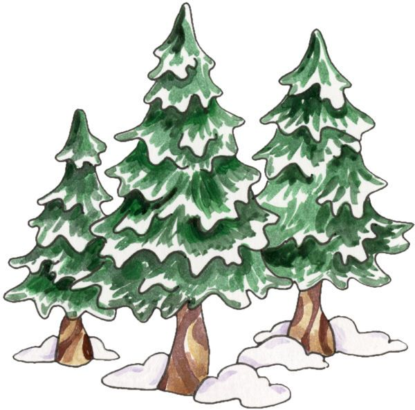 Evergreen clipart snow capped. Best clip art