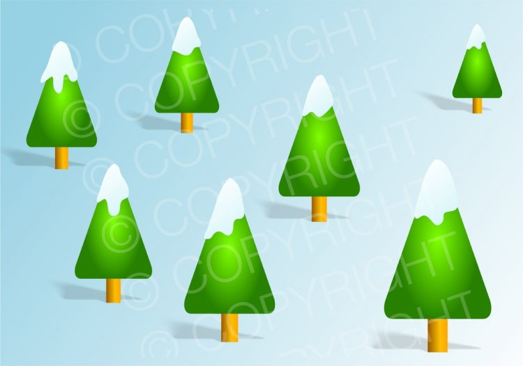 Evergreen clipart snow capped. Christmas trees prawny festive