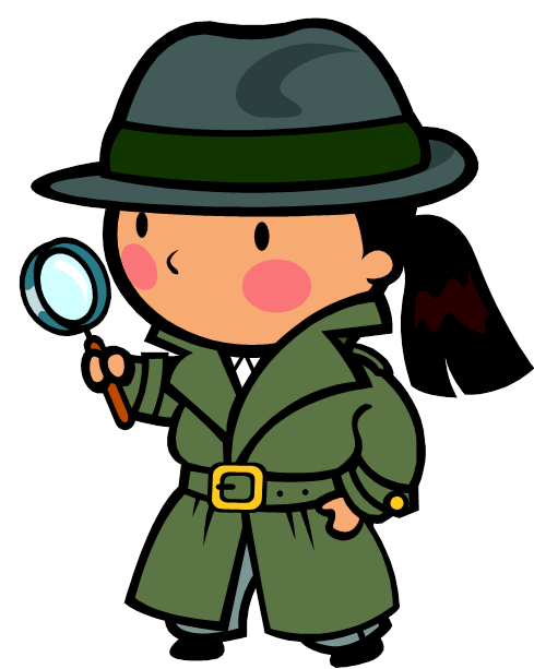 Spy clipart two. September mysteries the object