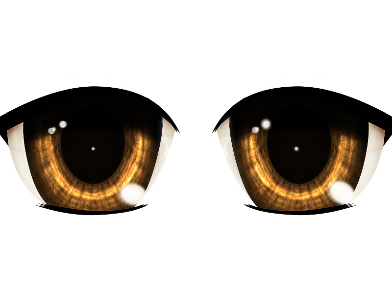 Evil anime eyes png. Manga isolated objects textures