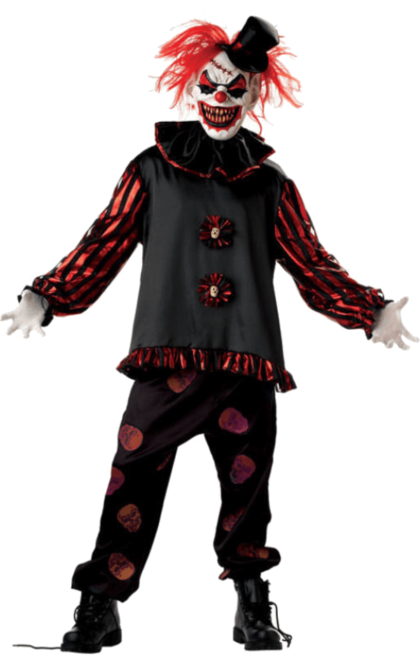 Adult carver the killer. Evil clown png clip transparent