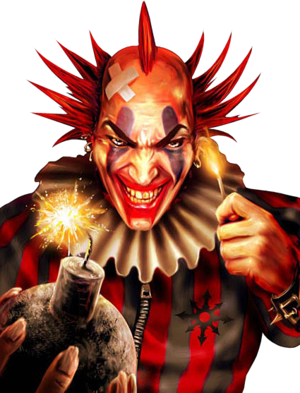 Psd official psds. Evil clown png vector library