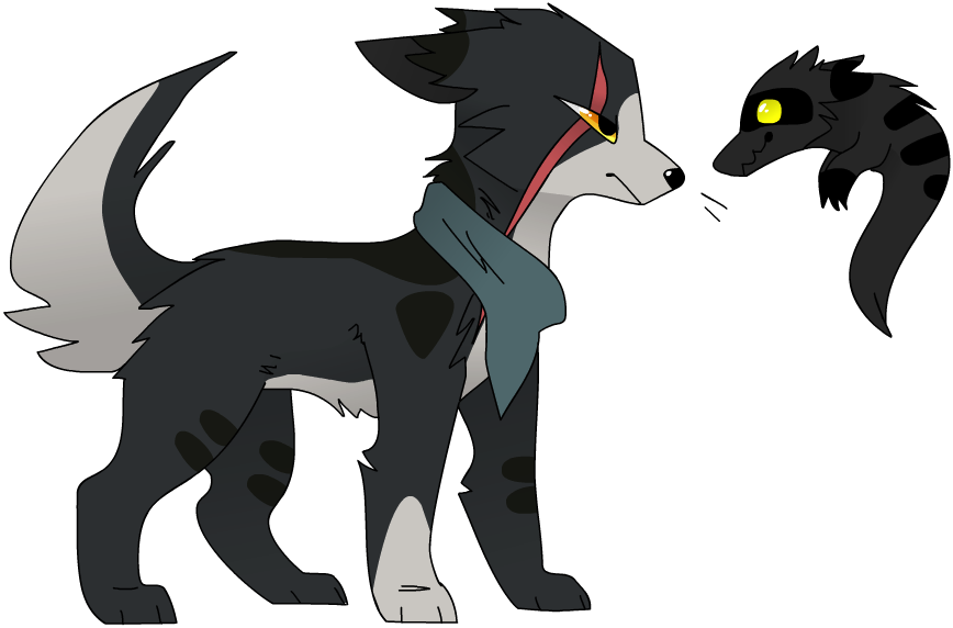 Evil wolf png. Custom adoptable for bitterbs