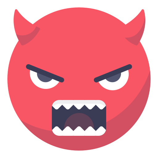 Evil face meme png. Angry smiley smile grin