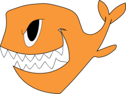 Evil fish png. Clipart i royalty free