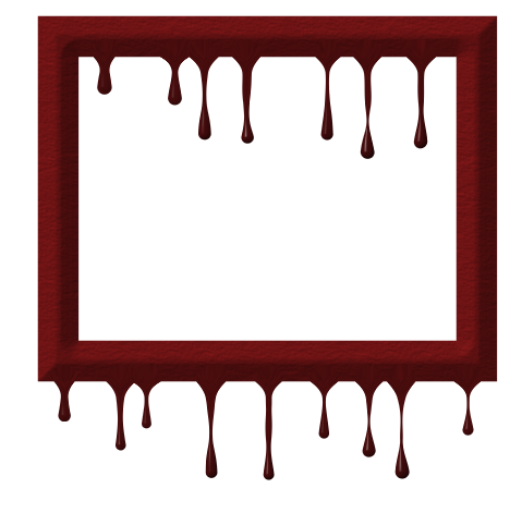 Evil frame png. Red drip byjws gi
