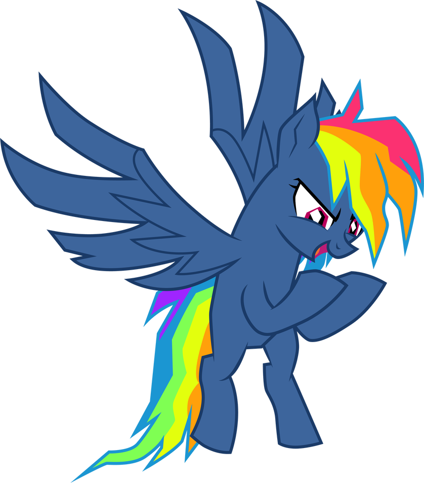 Vector hawks evil. Pie hater dash by