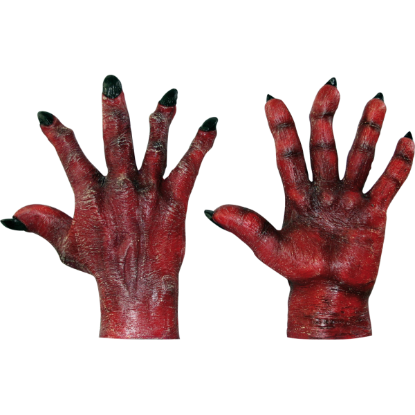 Evil hand png. Hands red ghoulish productions