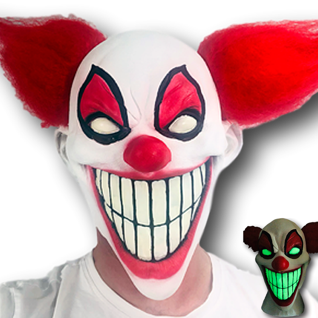 Evil mask png. Chester the clown glow