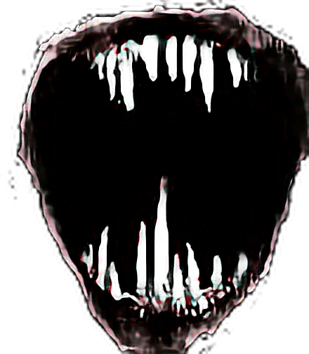Evil mouth png. Picsart sticker scary scarymouth
