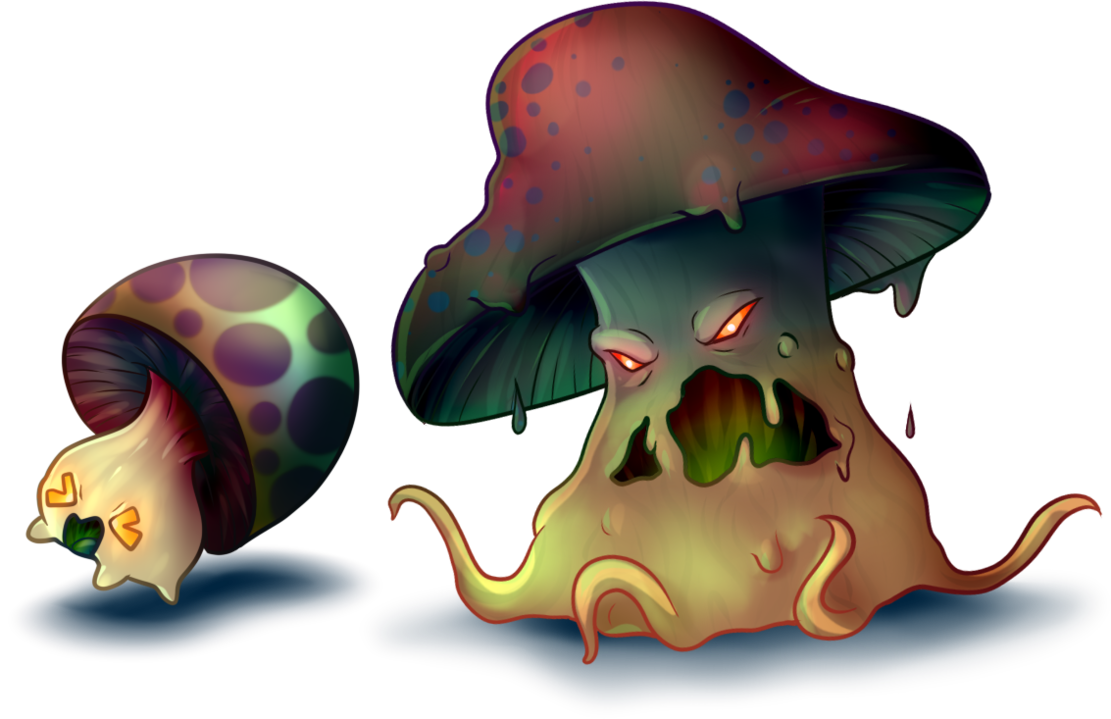 Super sea snail png. Evil mushroom and by