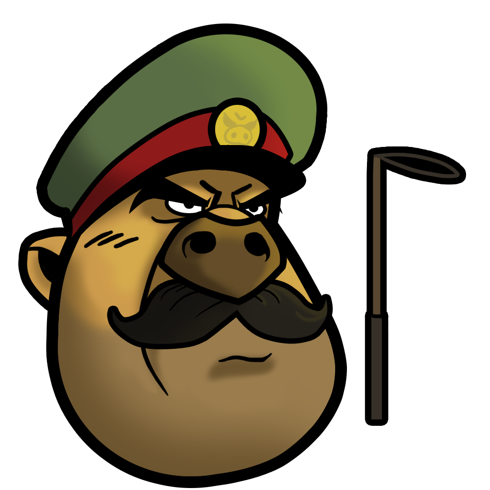 Angry general bird mascot. Evil pig png svg freeuse